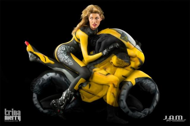 Human Motorcycles Bodypaint -Trina Merry