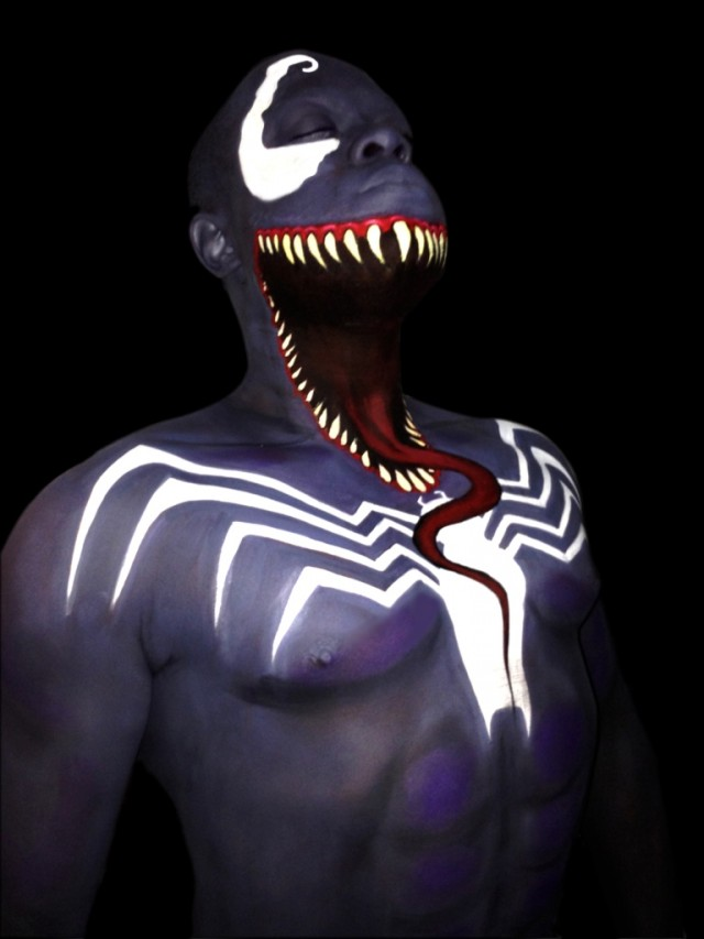 Venom Bodypainting on i love body art